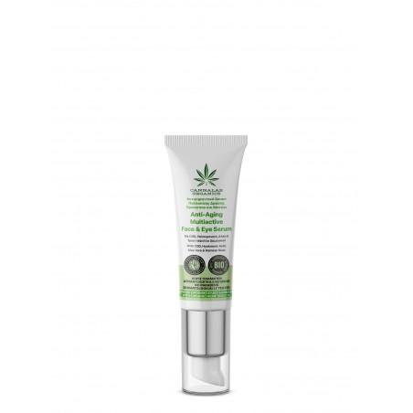 Multiactive Anti-aging Face & Eye Serum With CBD, Hyaluronic Acid, Aloe Vera & Damask Rose